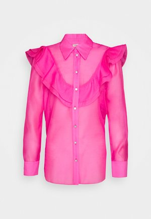 Button-down blouse - pink bright