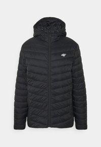 4F - Men's insulated jacket - Training jacket - black - 0