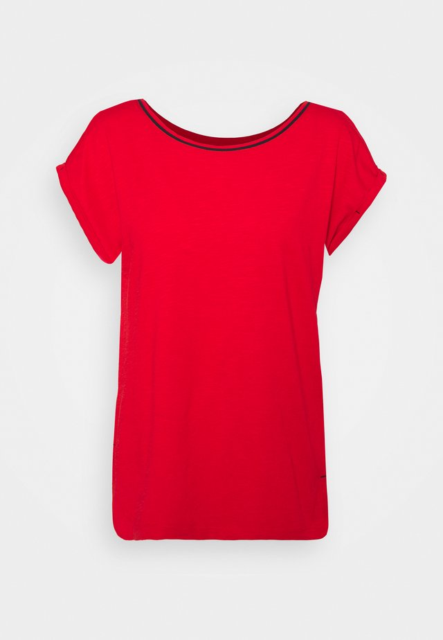 TEE - T-shirt - bas - red