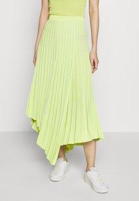 MRZ - PLEAT SKIRT - Plisovaná sukně - lime - 0