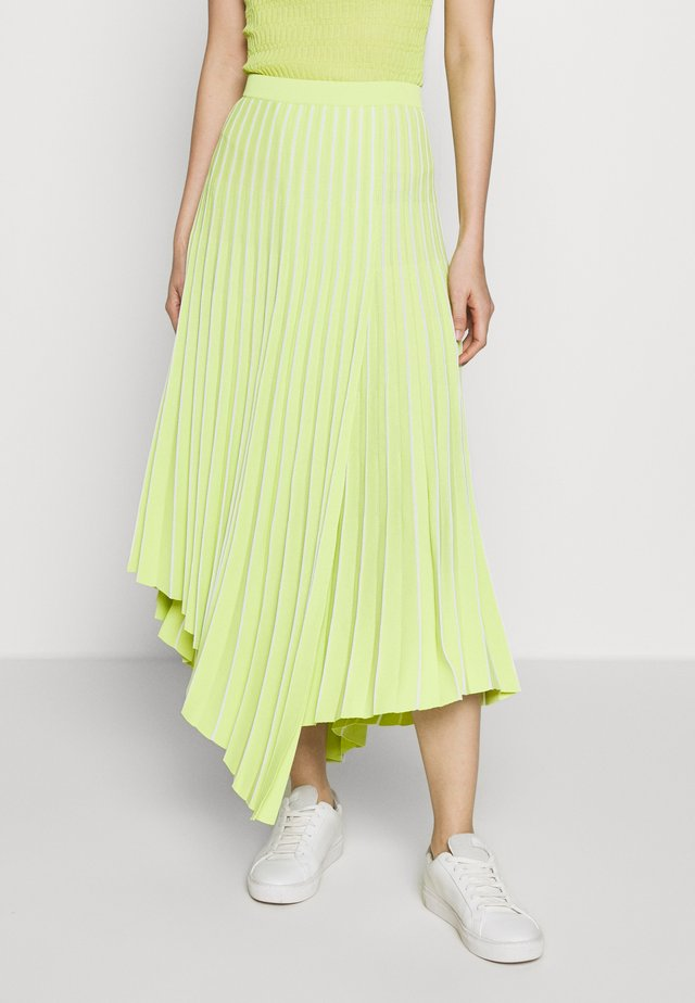PLEAT SKIRT - Gonna a pieghe - lime