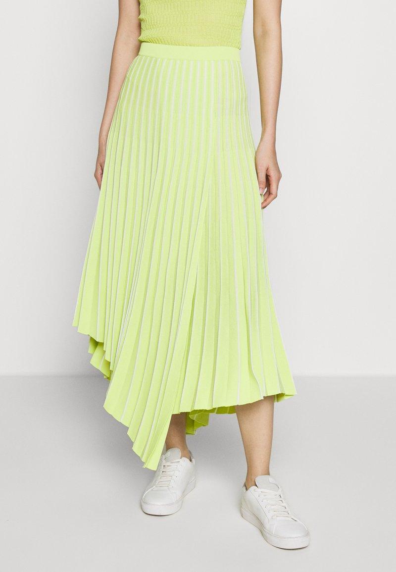 MRZ - PLEAT SKIRT - Plisovaná sukně - lime