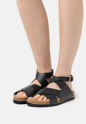 SCENIC FOOTBED - Sandals - black