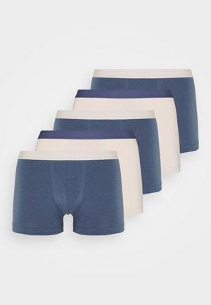 5 PACK - Pants - blue/beige