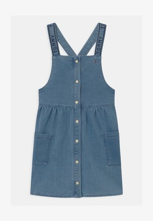 PINAFORE - Denim dress - blue denim