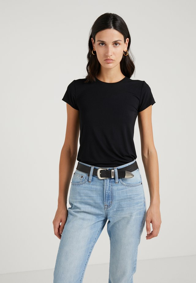 CREW STRETCH SHORT SLEEVE TEE - Basic T-shirt - black
