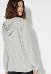 Tezenis - Zip-up hoodie - grigio mel.chiaro/nero - 2