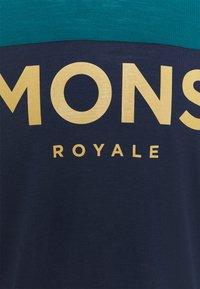 Mons Royale - REDWOOD ENDURO - Top sdlouhým rukávem - deep teal/navy - 2