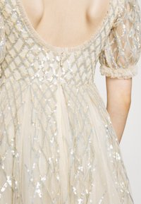 Needle & Thread - SEQUIN GINGHAM ANKLE GOWN - Společenské šaty - champagne/blue - 5