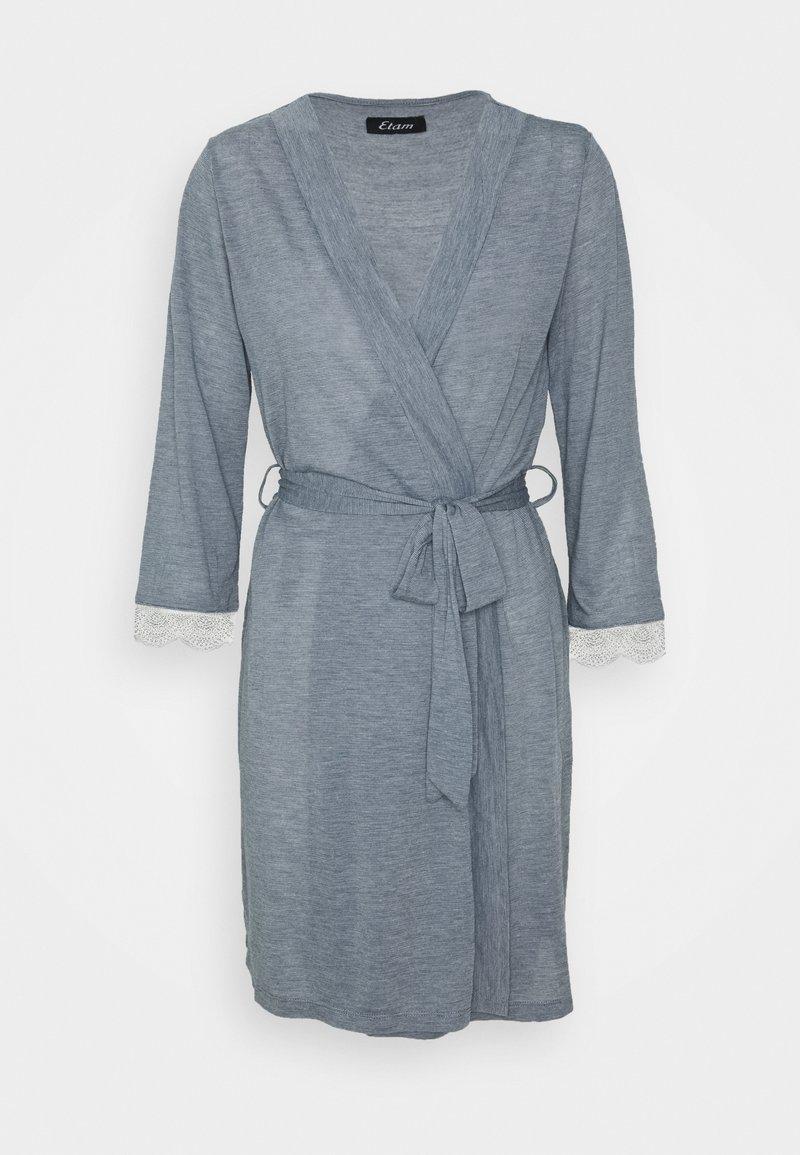 Etam - WARM DAY DESHABILLE - Dressing gown - marine