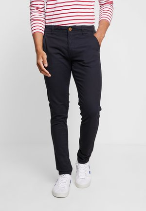 BHNATAN PANTS - Chinosy - dark navy blue