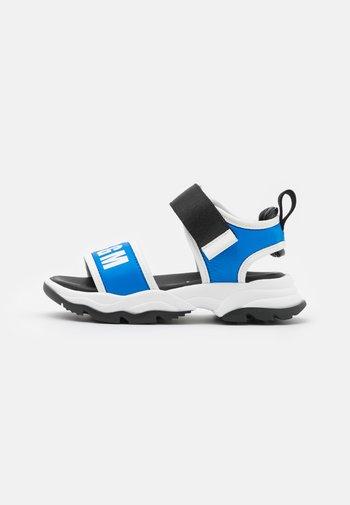 UNISEX - Sandals - blue/white