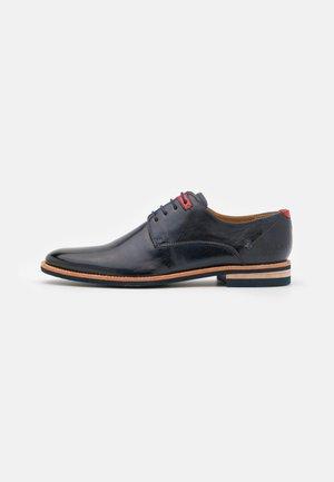 CLINT  - Šněrovací boty - navy