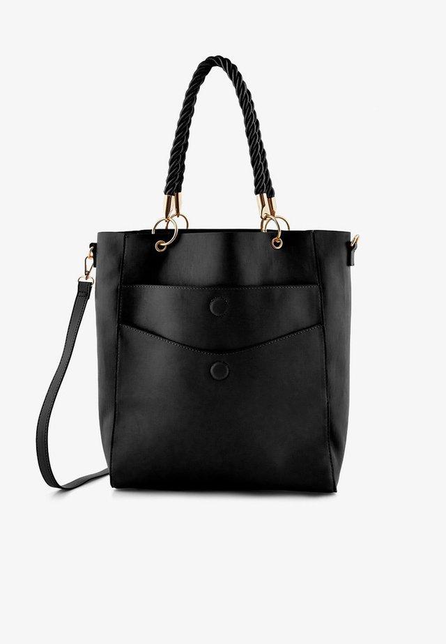 VERDREHTER RIEMEN - Tote bag - black