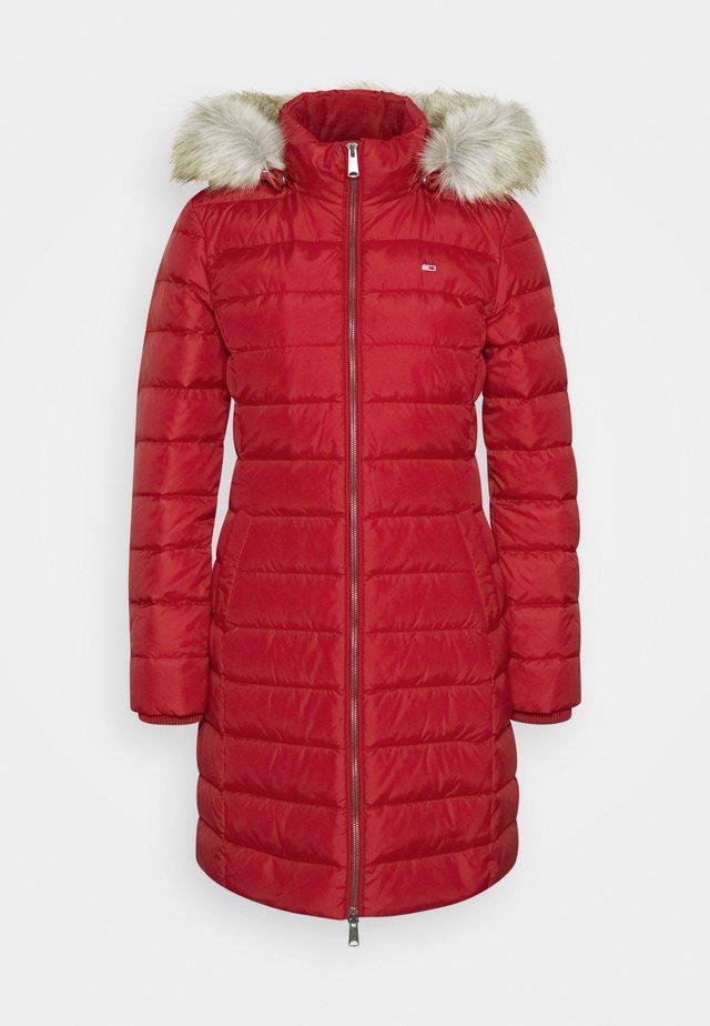 ESSENTIAL HOODED COAT - Down coat - wine red