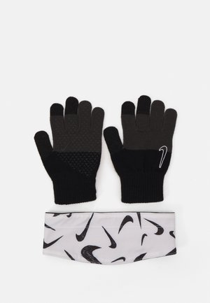 KIDS HYPERSTORM HEADBAND AND GLOVES SET - Čelenka - black/white