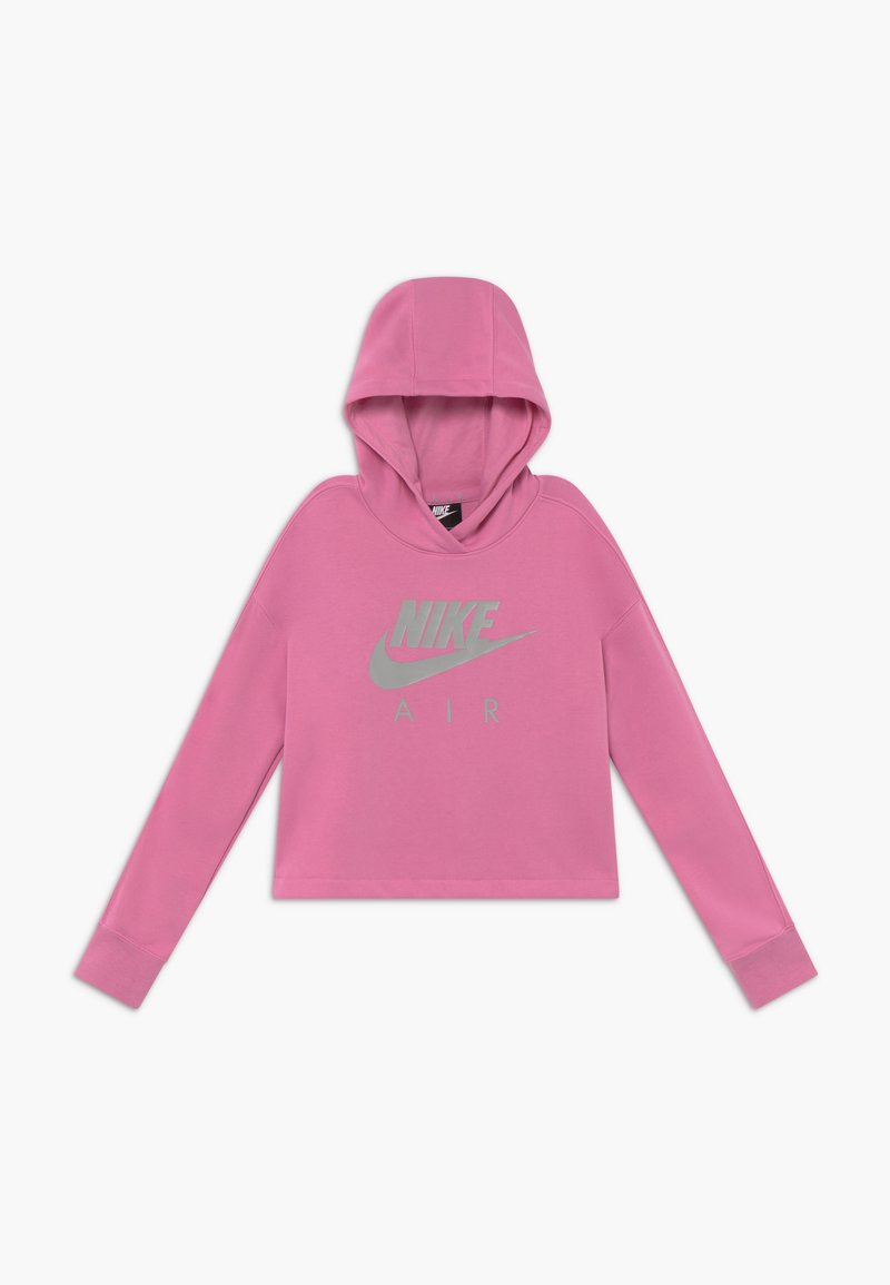 Nike Sportswear - NIKE AIR CROP HOODIE - Hoodie - magic flamingo/smoke grey