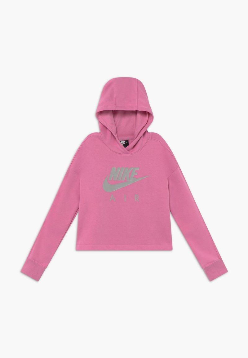 Nike Sportswear - NIKE AIR CROP HOODIE - Felpa con cappuccio - magic flamingo/smoke grey