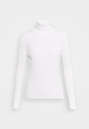 LONGSLEEVE TURTLE NECK STRUCTURE - Jersey de punto - off white