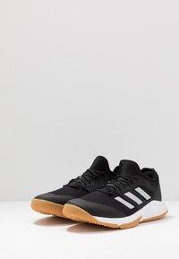 adidas Performance - COURT TEAM BOUNCE - Boty na házenou - core black/silver metallic/footwear white - 2