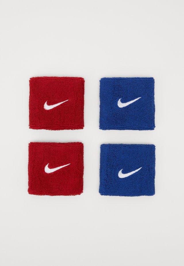 WRISTBANDS 4 PACK - Opaska z froty - royal blue/varsity red