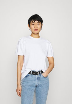 ISA PUFF SLEVE TEE - Basic T-shirt - white