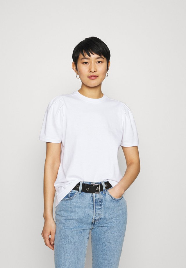 ISA PUFF SLEVE TEE - Jednoduché triko - white