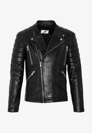 GLADATORPYTON - Leather jacket - black