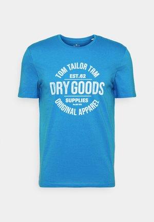 Print T-shirt - bright ibiza blue