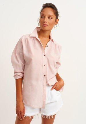 Button-down blouse - stripe comb