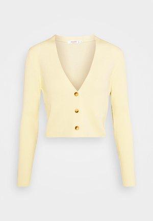 CROP CARDIGAN - Strikjakke /Cardigans - pale yellow
