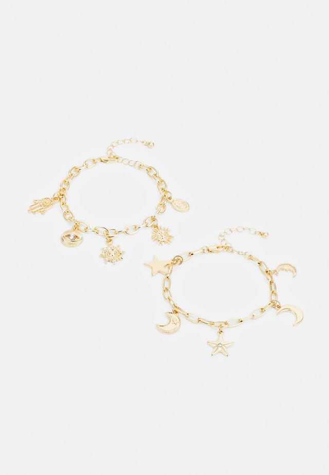 PCSANDIE BRACELET 2 PACK - Armbånd - gold-coloured