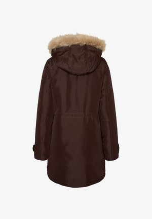 Winter coat - chocolate plum