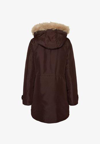 Winter coat - chocolate plum