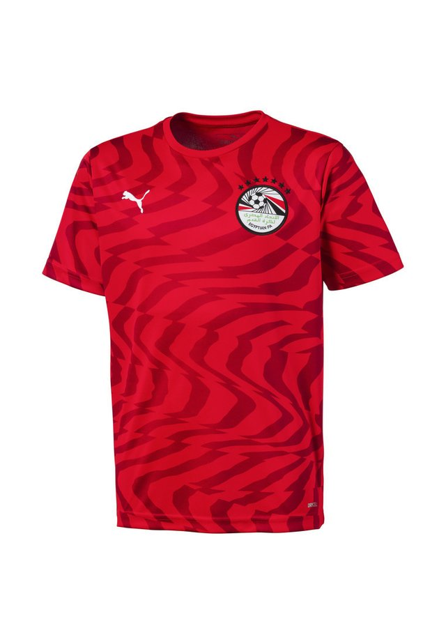 EGYPT KIDS - Print T-shirt - puma red-puma white