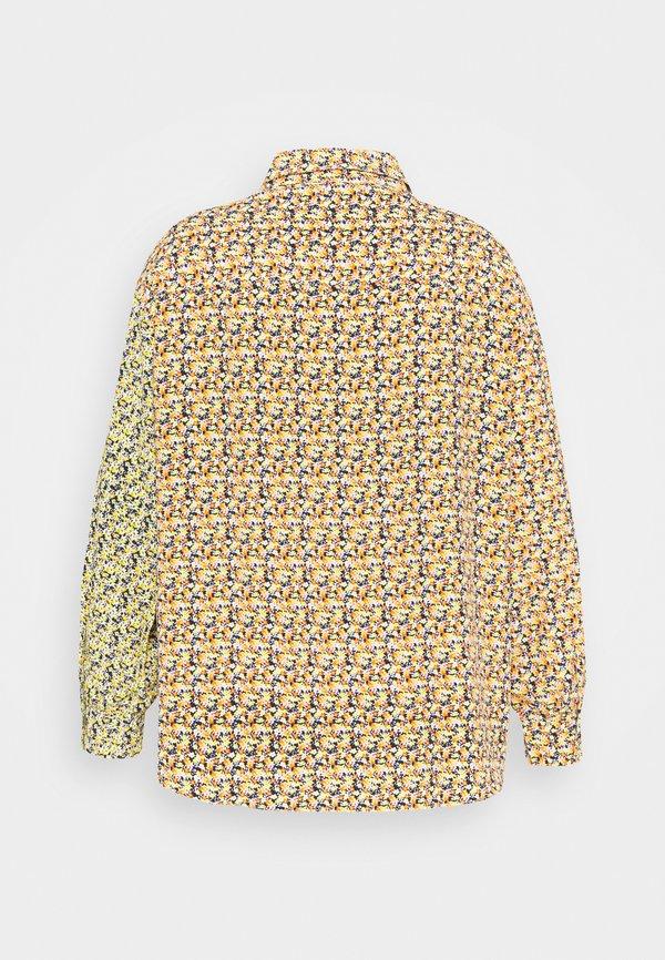 Glamorous Curve MIX PRINT CROP WITH LONG SLEEVES - Bluzka - multi orange/yellow/pomarańczowy YTUP