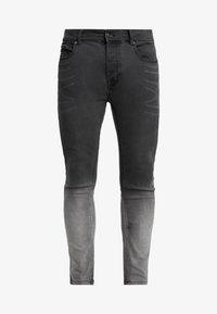 CLARK - Jeans Skinny - grey dip dye