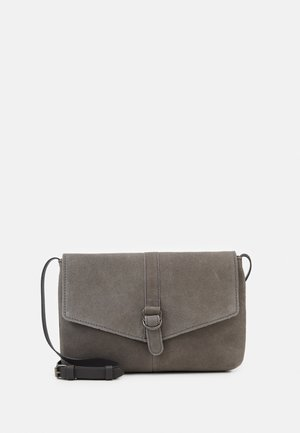 LEATHER - Across body bag - anthracite
