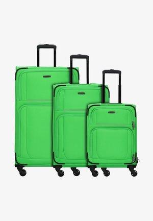 3  PACK - Luggage set - apple green grey