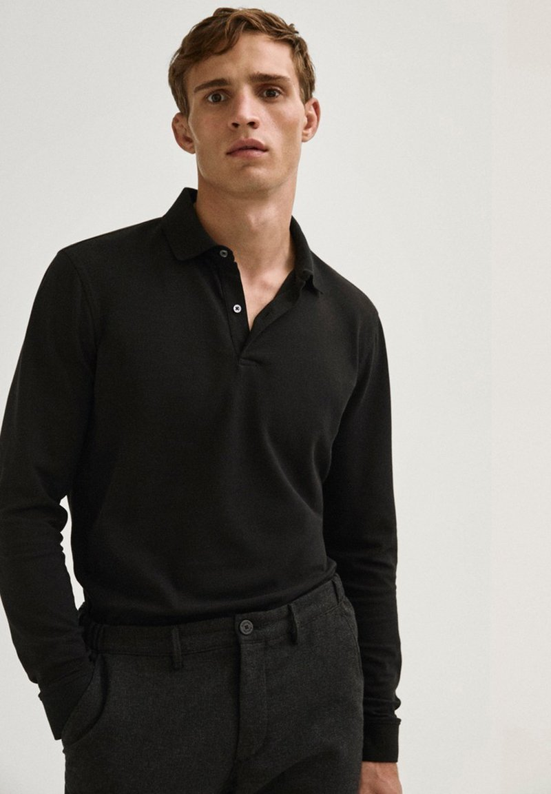Massimo Dutti - Polo shirt - black
