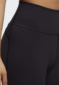 adidas Performance - BELIEVE THIS  -STRIPES MESH LONG LEGGINGS - Medias - black - 6