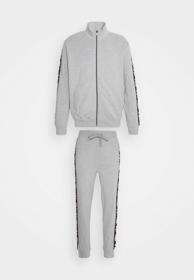 BRUSHED WITH FULL ZIP - Pyjamas - grey