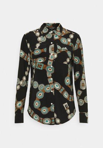 CORWIN LONG SLEEVE - Button-down blouse - black/multi