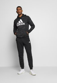 adidas Performance - Bluza z kapturem - black/white - 1