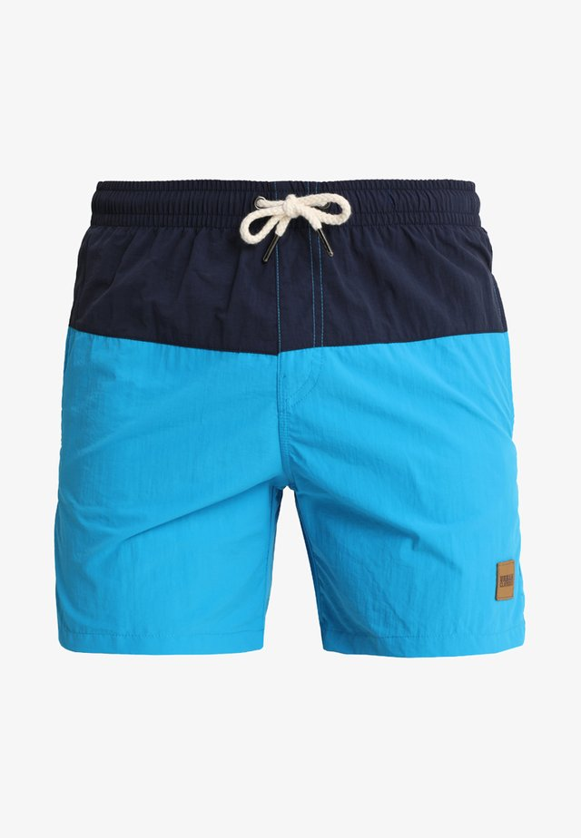 BLOCK SWIM - Shorts da mare - navy/turquoise