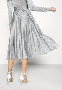 Topshop - PREMIUM MARL PLEATED - Cocktail dress / Party dress - grey - 4