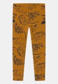 Lindex - MINI DINO 2 PACK - Leggings - Trousers - dark dusty yellow - 1