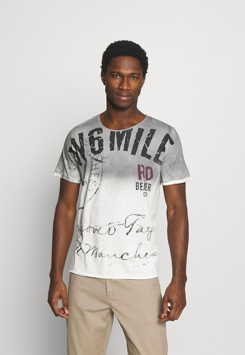 Key Largo - T-shirt con stampa - silver