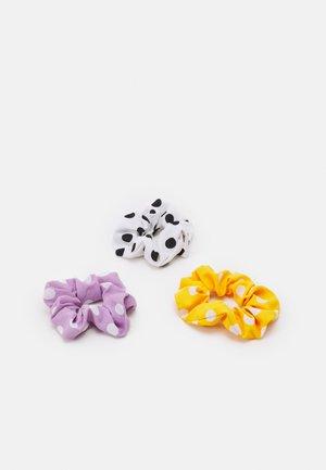 MYRA SCRUNCHIE ZAL 3 PACK - Hair styling accessory - purple heather/white/yellow