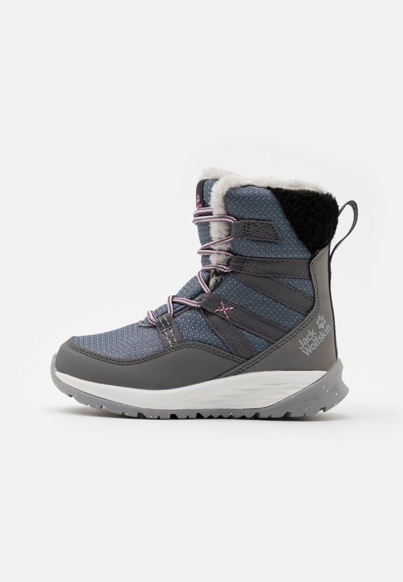 Jack Wolfskin - POLAR TEXAPORE HIGH UNISEX - Winter boots - pebble grey/offwhite